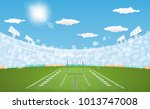 american football arena field... | Shutterstock .eps vector #1013747008