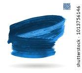 blue brush stroke and texture.... | Shutterstock .eps vector #1013756146