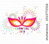 poster carnival with masquerade ... | Shutterstock .eps vector #1013772526