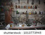 old laboratory mining tools and ... | Shutterstock . vector #1013773945