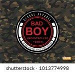 bad boy slogan  tee graphic ...