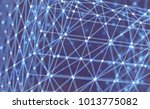 lattice structure. science or... | Shutterstock .eps vector #1013775082