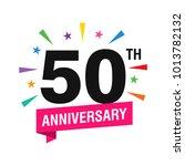 50th years anniversary logo... | Shutterstock .eps vector #1013782132