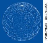 globe contour. vector eps10... | Shutterstock .eps vector #1013783356