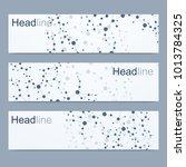 scientific set of modern vector ... | Shutterstock .eps vector #1013784325