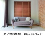 interior design sofa for living ... | Shutterstock . vector #1013787676