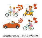 collection set of couples in... | Shutterstock .eps vector #1013790325