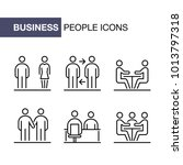 business people icons set... | Shutterstock .eps vector #1013797318