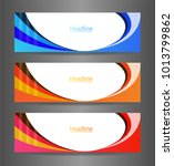 webset three colorful abstract... | Shutterstock .eps vector #1013799862