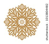 laser cutting mandala. round... | Shutterstock .eps vector #1013804482