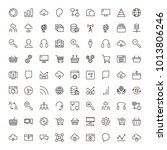 seo icon set. collection of...   Shutterstock .eps vector #1013806246