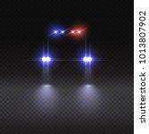 vector realistic police car... | Shutterstock .eps vector #1013807902