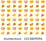 repetitive pattern with cakes ... | Shutterstock .eps vector #1013809096