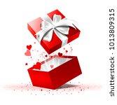 valentine s day gift box. | Shutterstock .eps vector #1013809315