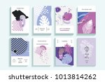 universal floral posters set.... | Shutterstock .eps vector #1013814262