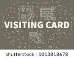 conceptual business... | Shutterstock . vector #1013818678