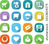 flat vector icon set   cart... | Shutterstock .eps vector #1013819275