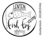 traditional menu for lent... | Shutterstock .eps vector #1013819446
