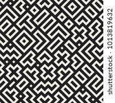 seamless vector chaotic pattern.... | Shutterstock .eps vector #1013819632