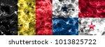 belgium vs panama smoke flag   Shutterstock . vector #1013825722