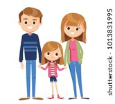 family with kid | Shutterstock .eps vector #1013831995
