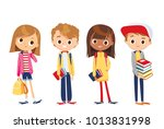 vector set of children | Shutterstock .eps vector #1013831998