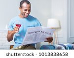 latest news. positive joyful... | Shutterstock . vector #1013838658