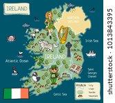cartoon map of ireland   Shutterstock .eps vector #1013843395