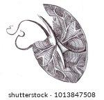mollusc stylized shell  design... | Shutterstock . vector #1013847508