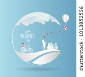 valentine day   concept two...   Shutterstock .eps vector #1013852536