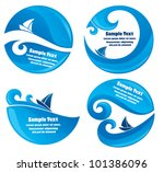 vector collection of yachting... | Shutterstock .eps vector #101386096