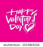 happy valentine's day vector... | Shutterstock .eps vector #1013865226