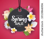 spring sale cute background... | Shutterstock .eps vector #1013866006
