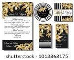 wedding invitation cards   Shutterstock .eps vector #1013868175