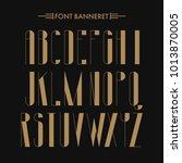 art deco creative font.... | Shutterstock .eps vector #1013870005