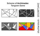 set of archimedes tangram game... | Shutterstock .eps vector #1013871442