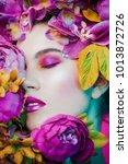 beauty portrait. beautiful... | Shutterstock . vector #1013872726