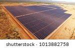 skyline view of solar power... | Shutterstock . vector #1013882758
