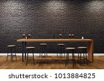 creative black brick pub or bar ... | Shutterstock . vector #1013884825