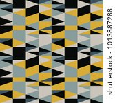 triangles seamless pattern.... | Shutterstock .eps vector #1013887288