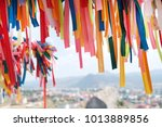 wish tree with color decorated...   Shutterstock . vector #1013889856