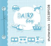 Stock vector vector baby boy scrapbook 101389108