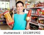 portrait of positive female in... | Shutterstock . vector #1013891902