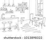 cafe bar graphic black white... | Shutterstock .eps vector #1013898322