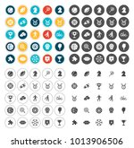 game icons set | Shutterstock .eps vector #1013906506