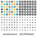 building icons set | Shutterstock .eps vector #1013906602