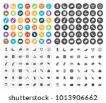 supermarket icons set | Shutterstock .eps vector #1013906662
