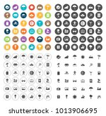 summer icons set | Shutterstock .eps vector #1013906695