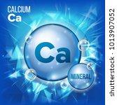 ca calcium vector. mineral blue ...   Shutterstock .eps vector #1013907052