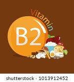 vitamin b2. natural organic... | Shutterstock .eps vector #1013912452